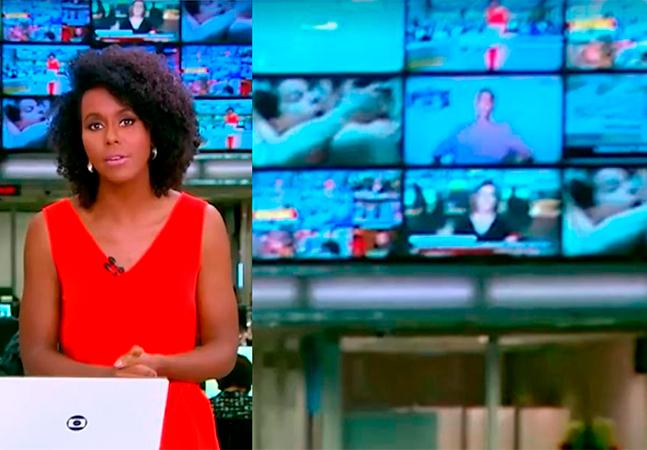 Cena de sexo exibida atrás de Maju Coutinho no 'JH' viraliza nas redes; veja vídeo