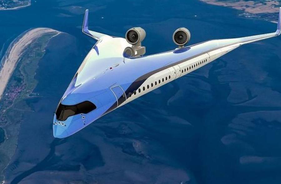 Projeto de aeronave Flying-V, desenvolvido pela Delft University of Technology