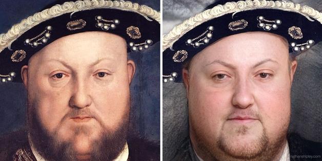 recriação do rosto de Henrique VIII feita por Nathan Shipley usando inteligência artificial