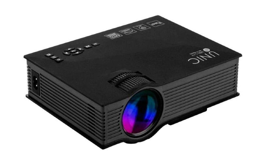 A imagem mostra um miniprojetor wi-fi Luméns (HD)