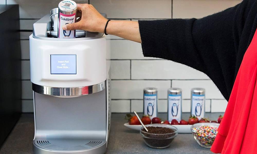 máquina de sorvete funciona como uma máquina de café expresso