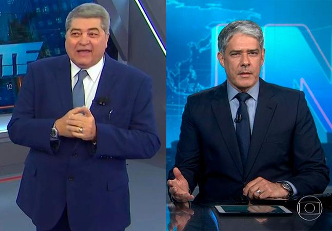 Datena defende William Bonner, chamado de 'canalha' por Bolsonaro: 'Não aceito'. Veja vídeo