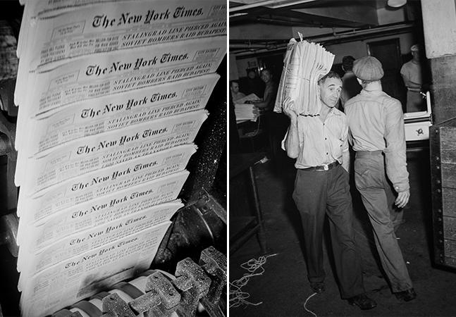 Fotografias mostram como era feito o NY Times nos anos 1940; parece que foi em outra vida