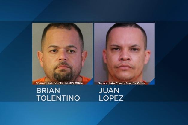 Fotos de Brian Tolentino e Juan Lopez, presos pelo crime de violão de sepultura na Flórida