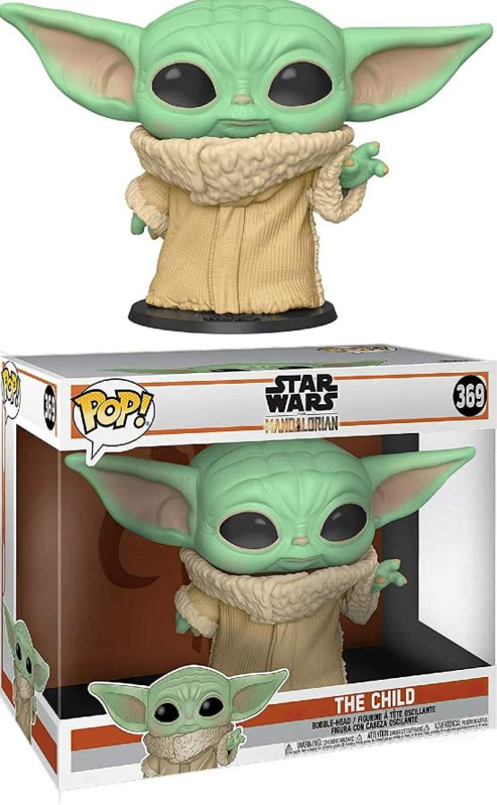 Imaem do boneco Baby Yoda em versão Funko