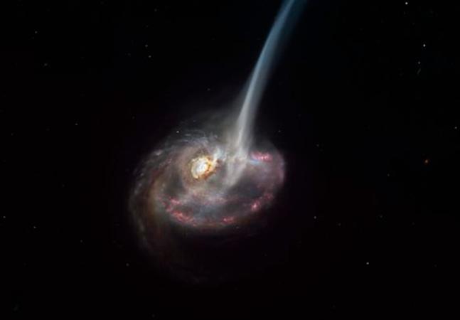 Cientistas assistem galáxia morrendo pela primeira vez na história; veja fotos