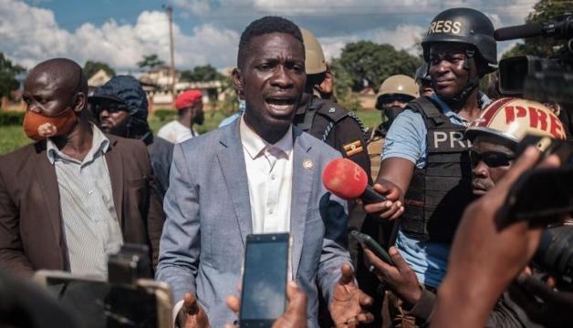 Bobi Wine, candidato de oposição à presidência em Uganda