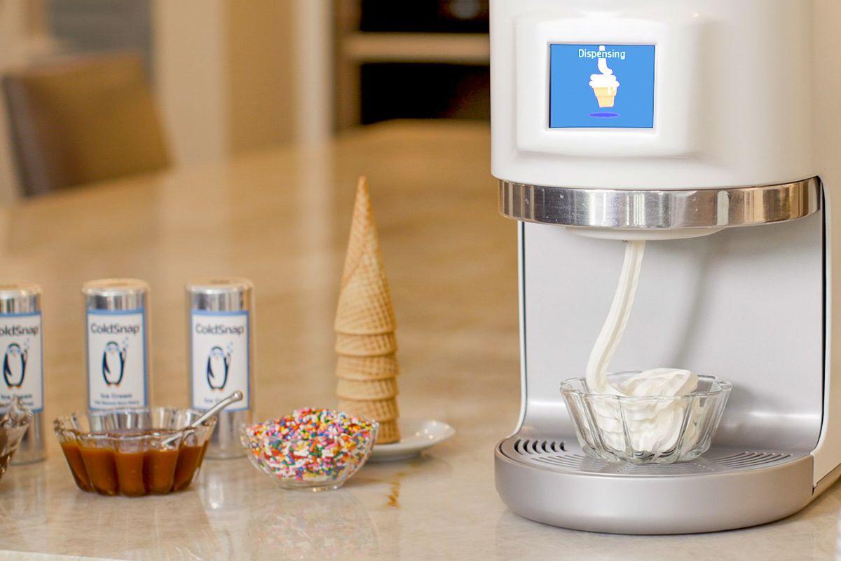 máquina de sorvete doméstica