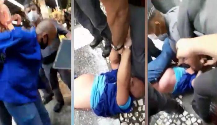violência policial contra ambulante