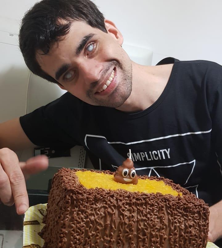 Influenciador digital cego Marcos Lima