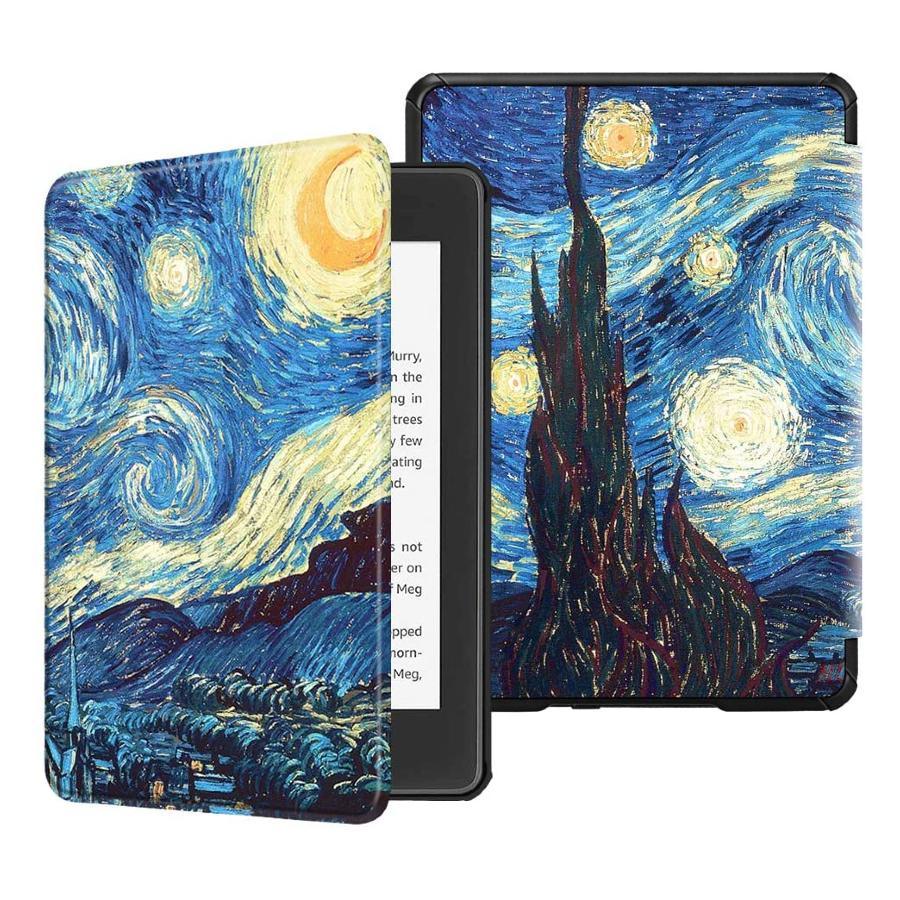Imagem ilustrativa da capa do Kindle inspirada no quadro 'A Noite Estrelada', de Van Gogh