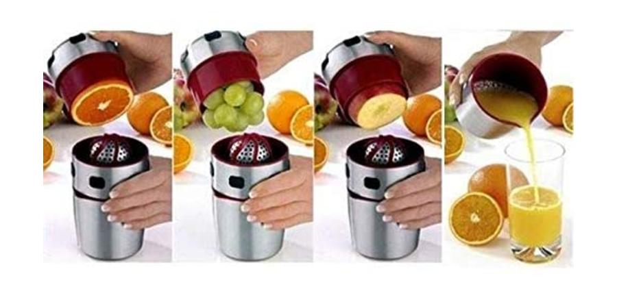 Kit processador de sucos e shake (em inox)