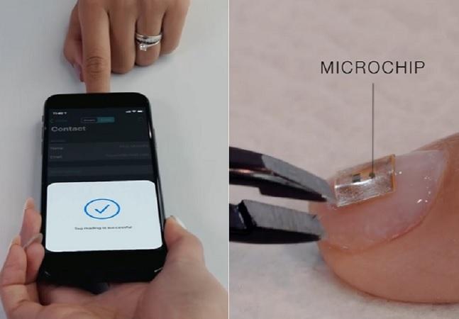 Manicure do futuro: microchip na unha se conecta ao celular e, em breve, poderá fazer pagamentos