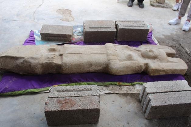 Estátua huasteca encontrada no México