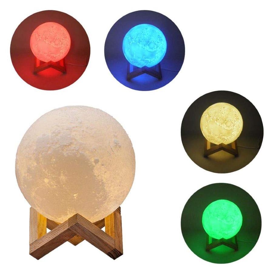 Diferentes possibilidades de iluminação colorida da luminária Lua: vermelho, azul, amarelo, verde