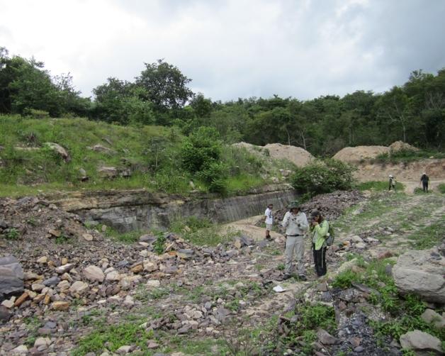Pedreira onde o fóssil do Karutia fortunata, lagarto pré-histórico, foi descoberto no Piauí