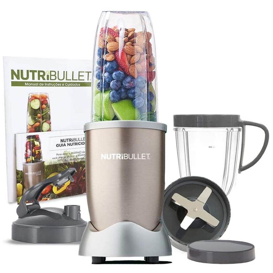 Nutribullet - Liquidificador, Multiprocessador, Blender, Mixer e Moedor