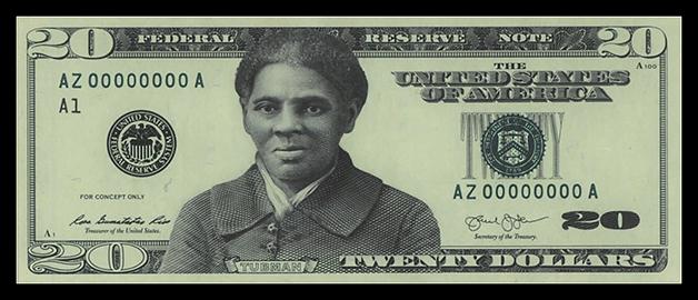 Protótipos da nota de 20 dólares desenvolvido em 2016 com Tubman