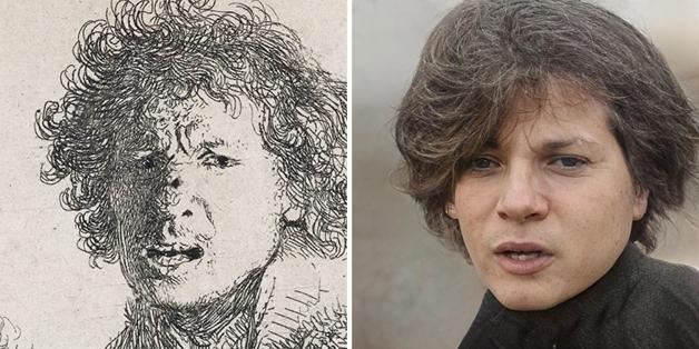 recriação do rosto de Rembrandt feita por Nathan Shipley usando inteligência artificial