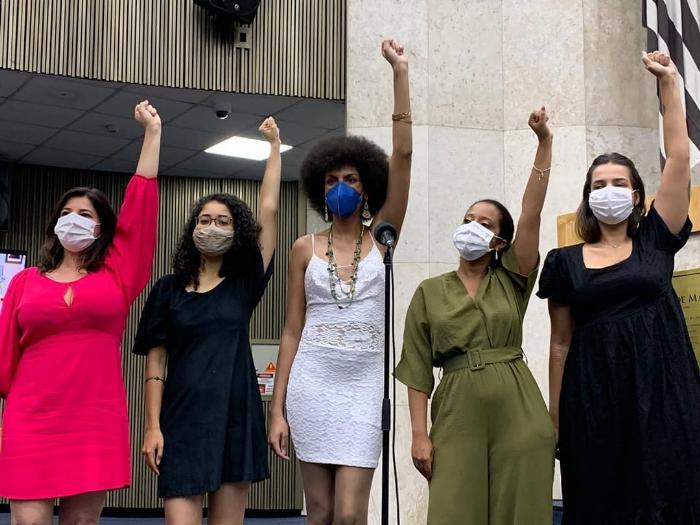Vereadoras da Bancada feminista do PSOL; Carol Iara foi vítima de violência