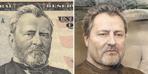recriação do rosto de Ulysses S. Grant feita por Nathan Shipley usando inteligência artificial