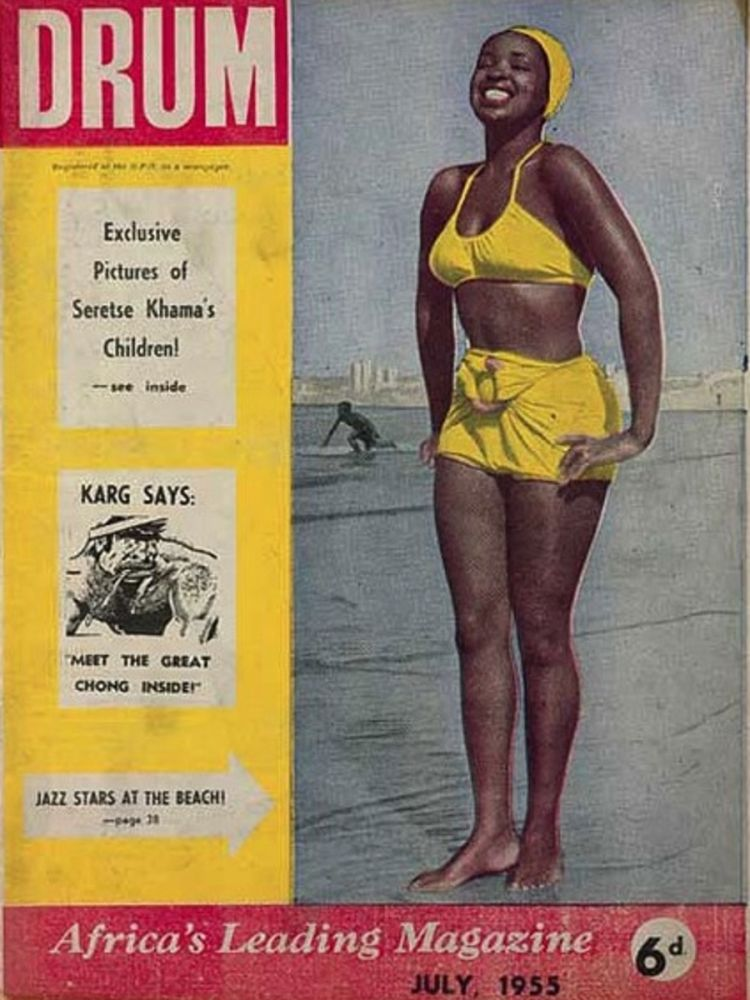 Capa da revista 'Drum' com Dolly Rathebe