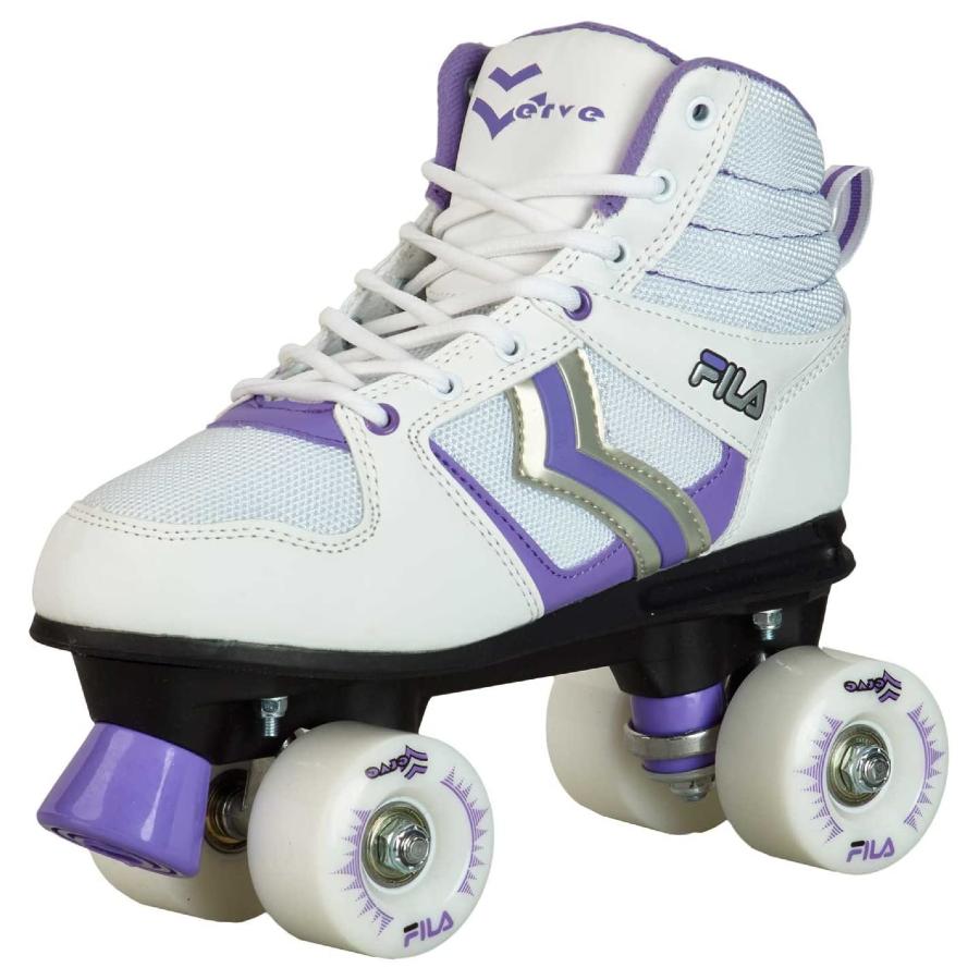 Patins Quad Fila Skates Verve (Branco e Lilás)