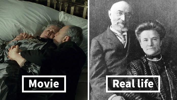 casal de idosos, passageiros do Titanic