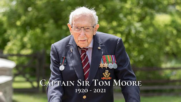tributo ao Capitão Sir Tom Moore