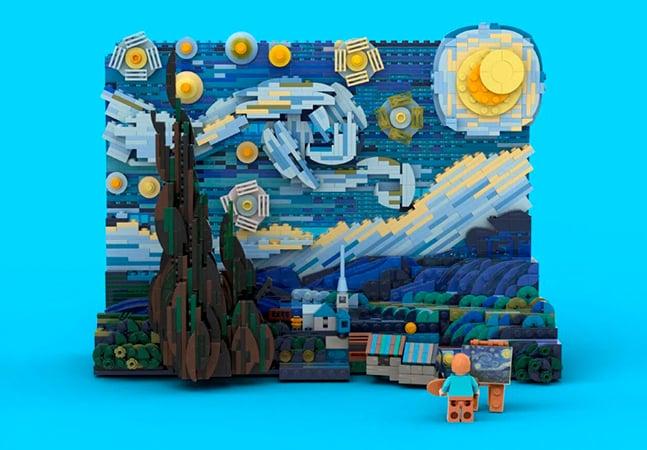 LEGO anuncia versão de encaixar da 'Noite Estrelada', de Van Gogh