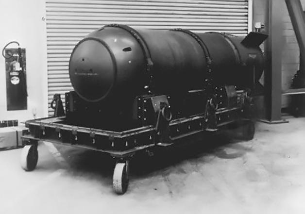 Exemplo de bomba Mk-15 como a que foi derrubada no mar da Georgia, nos EUA