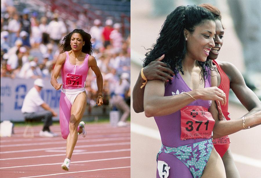 Fotos da corredora Florence Griffith-Joyner