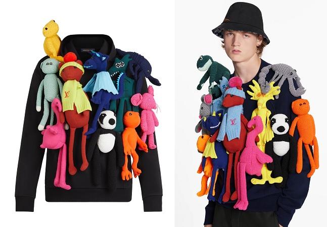 Acaba capitalismo: Louis Vuitton lança casaco de quase R$ 50 mil feito de pelúcias penduradas