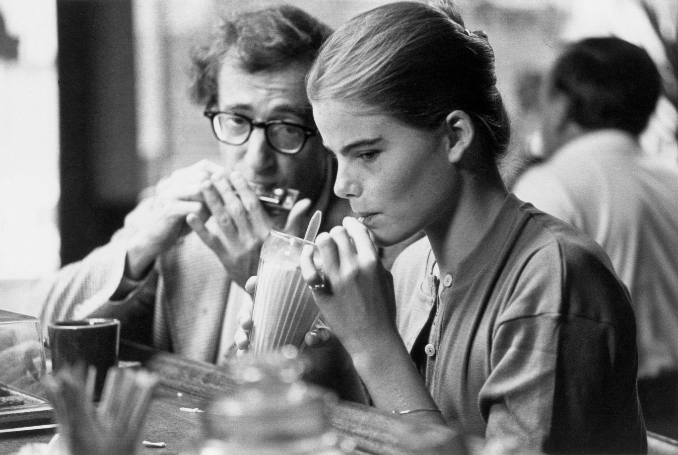 Woody Allen como Isaac e Mariel Hemingway como Tracy em Manhattan