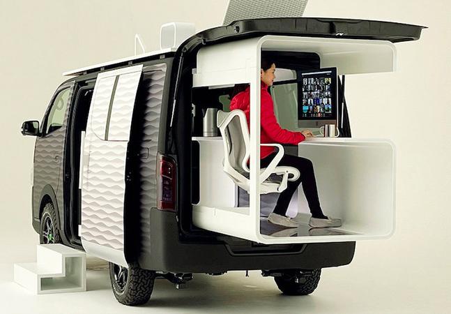Nissan projeta home office móvel em conceito para se trabalhar 'de casa' rodando por aí