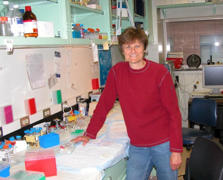 Fotografia da bioquímica húngara Katalin Karikó