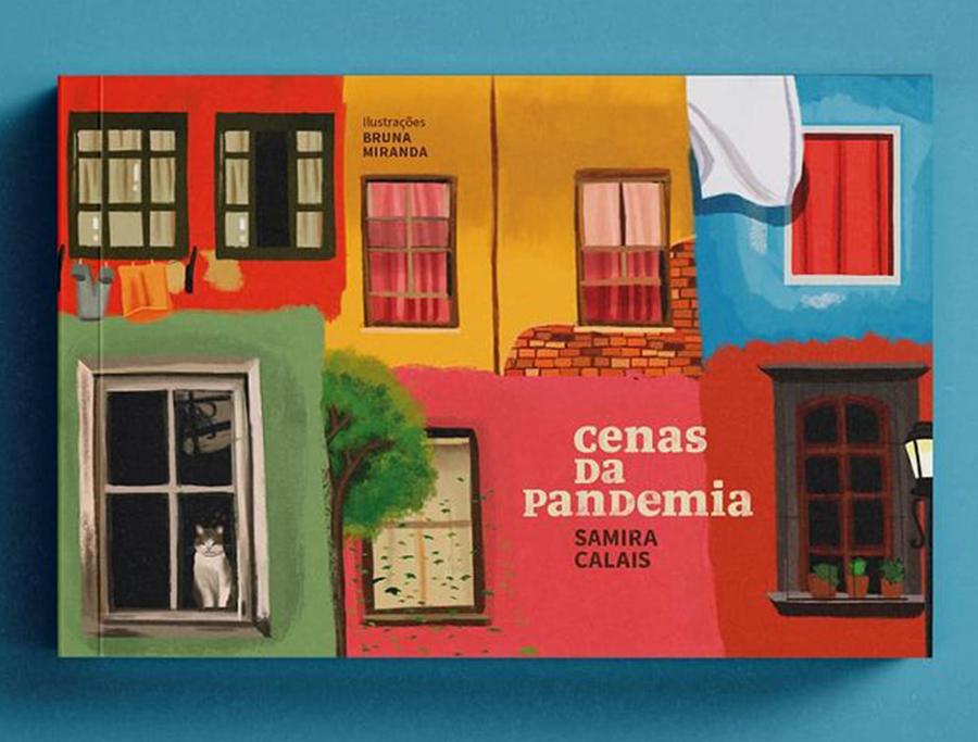 Foto da capa do livro 'Cenas da Pandemia', de Samira Calais