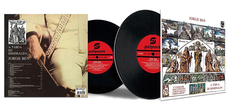Capa do disco 'A Tábua de Esmeralda', de Jorge Ben