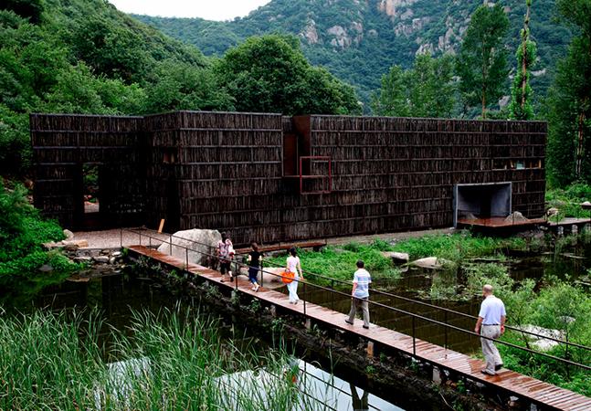 Biblioteca feita de gravetos em Liyuan, na China, parece saída de um sonho