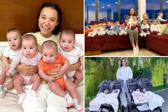 Russa mãe de 11 filhos usa barriga solidária para chegar aos cem
