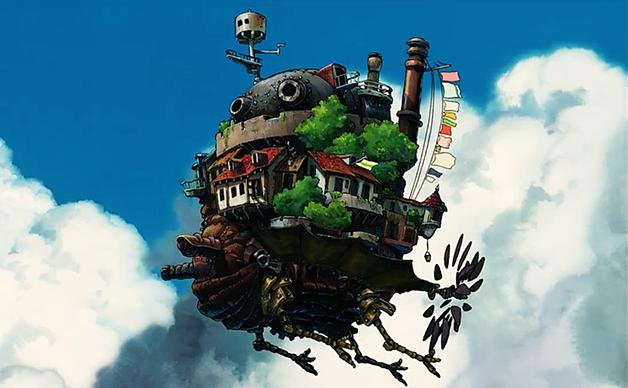 O Castelo Animado no filme Hauro no Oguko Shiro