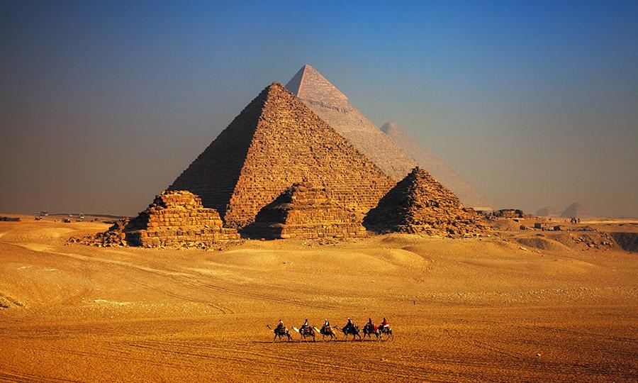 Imagem das Pirâmide de Gizé