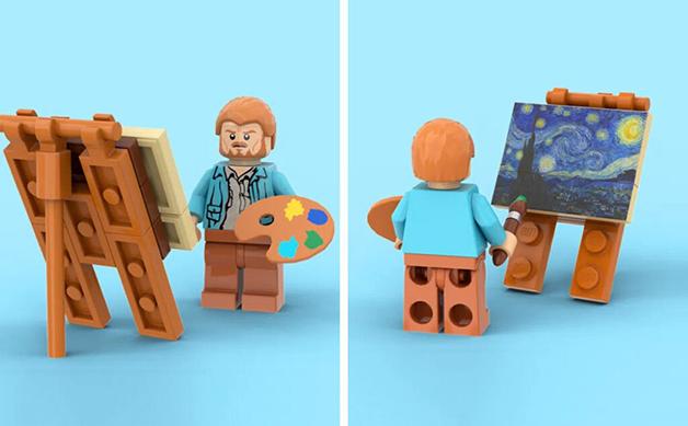Boneco do Van Gogh na versão para LEGO