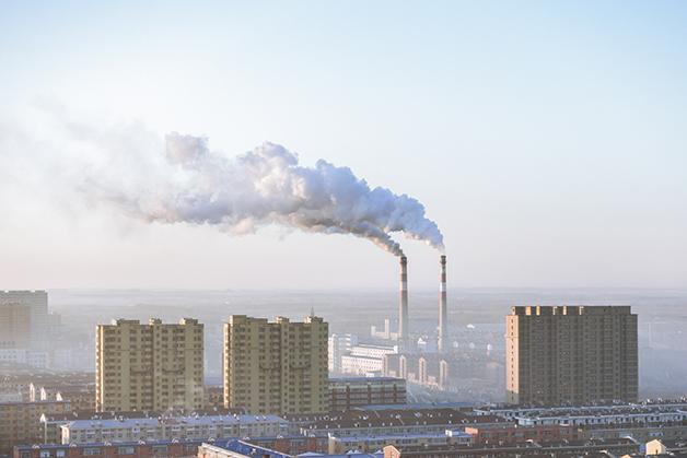 Uma chaminé em Pequim, na China