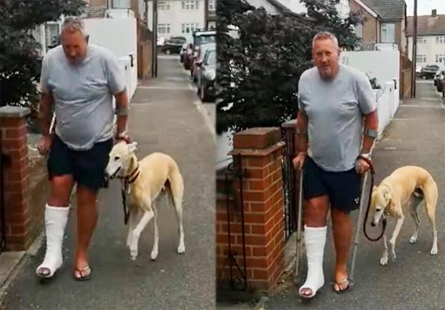 Britânico descobre que seu cachorro está mancando para lhe imitar – depois de gastar mais de 2 mil reais em exames