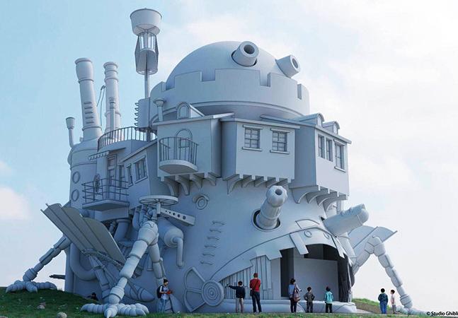 Esperado parque temático do Studio Ghibli terá 'Castelo Animado' da vida real