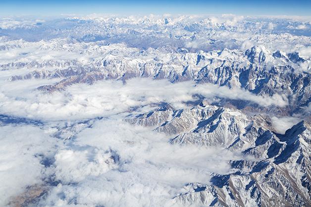 As montanhas do Hindu Kush, no Himalália