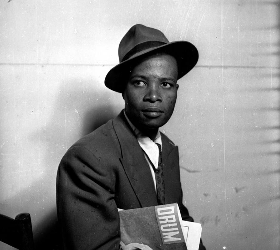 Retrato do jornalista investigativo Henry Nxumalo