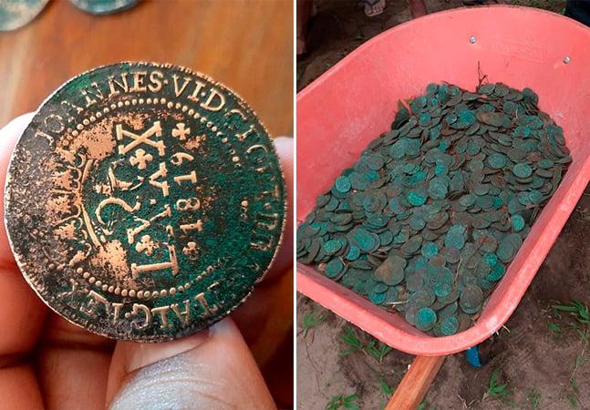 Tesouro achado em quintal de casa no Pará possui moedas de 1816 a 1841, diz Iphan