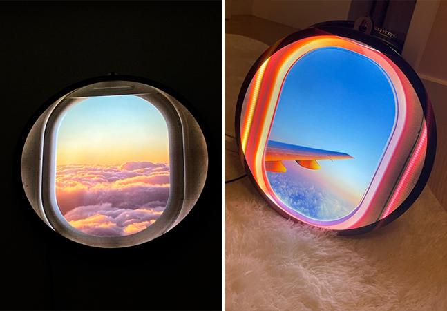 Luminária permite matar a saudade de andar de avião sem sair de casa